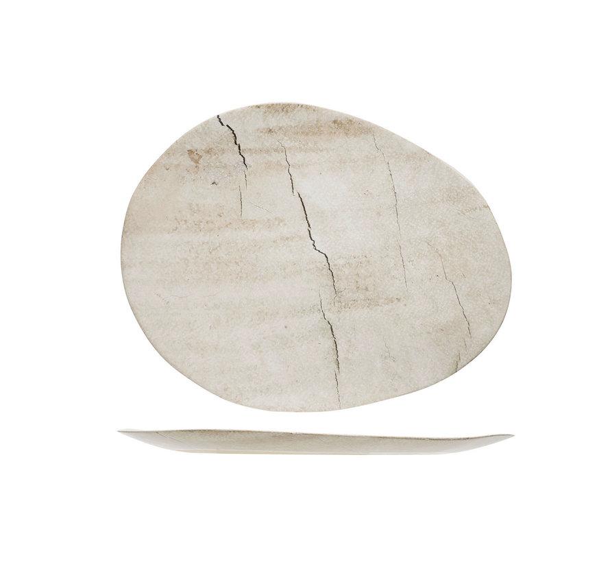 Cosy & Trendy Lithos bord ovaal 27x21,2xh1,6cm, 1 stuk
