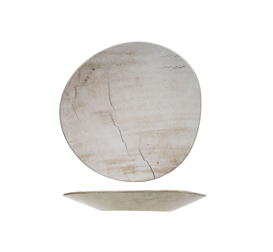 Cosy & Trendy Lithos bord wave 34x33,5xh3,5cm, 1 stuk
