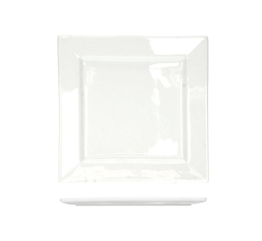 Cosy & Trendy Napoli witte plat bord 33x33cm vierkanti, 1 stuk