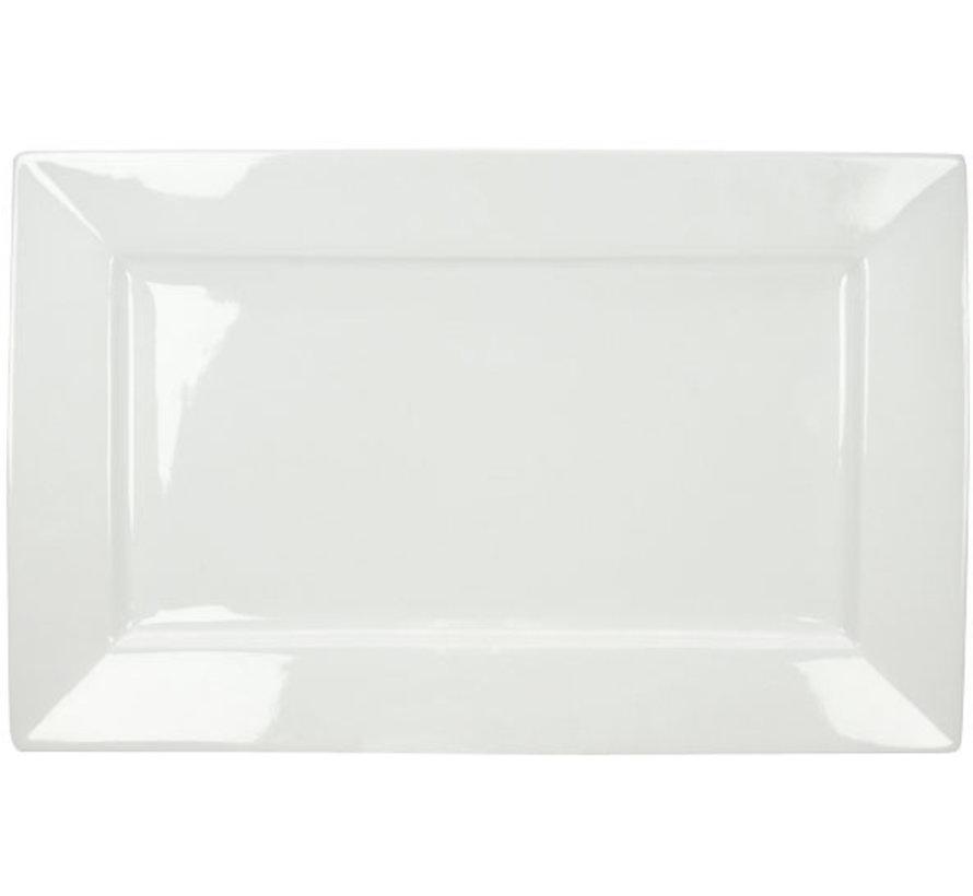Cosy & Trendy Napoli witte plat bord 35x22cm rechthoek, 1 stuk