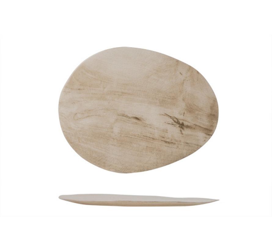 Cosy & Trendy Palissandro bord ovaal 31,8x25xh2cm, 1 stuk