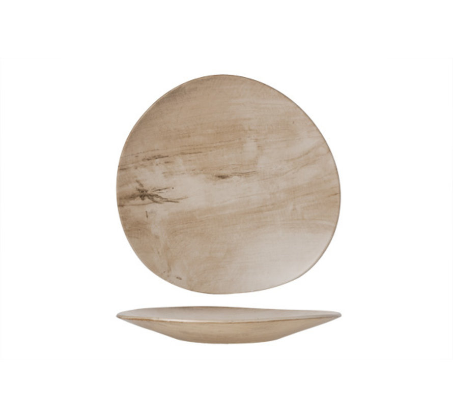 Cosy & Trendy Palissandro bord wave 34x33xh3,5cm, 1 stuk