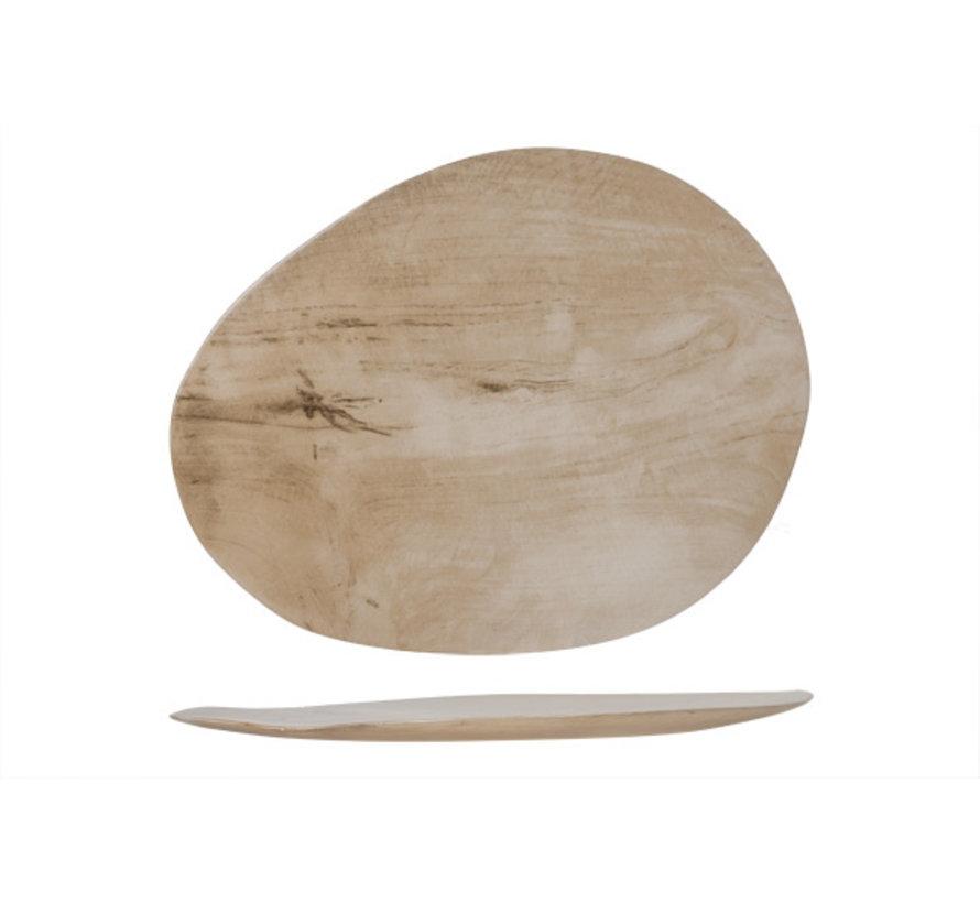 Cosy & Trendy Palissandro bord ovaal 42x33xh2cm, 1 stuk