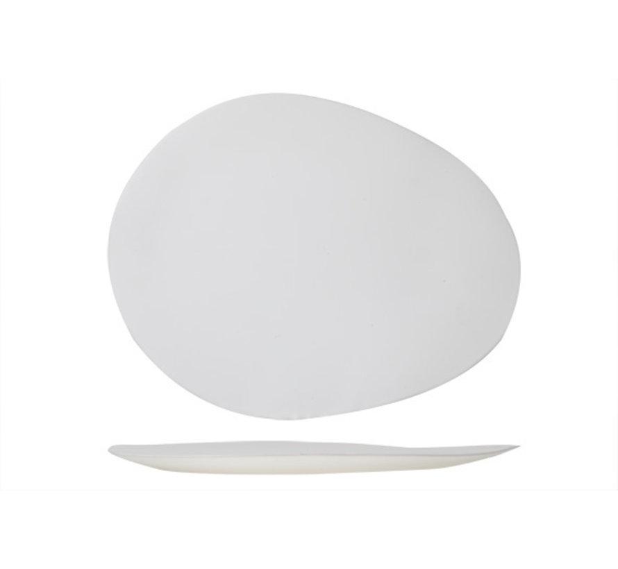 Cosy & Trendy Palissandro witte bord ovaal 31,5x24,8, 1 stuk