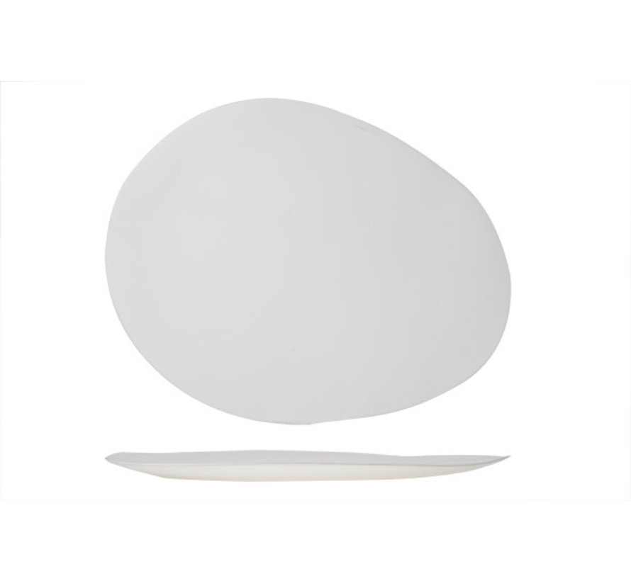 Cosy & Trendy Palissandro witte bord ovaal 42x33, 1 stuk