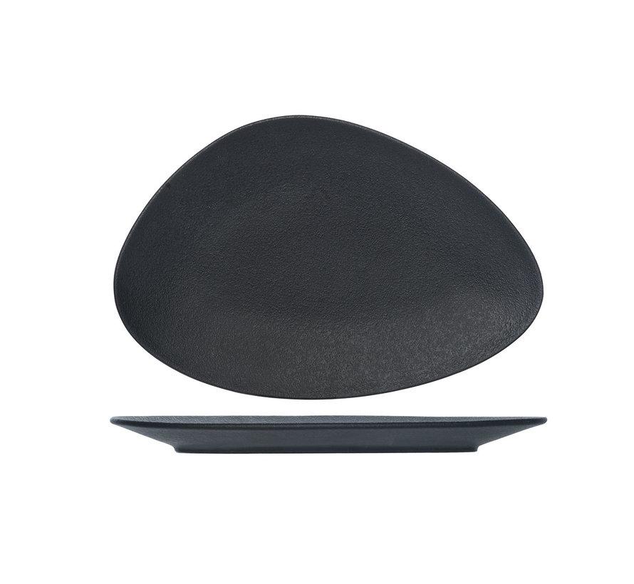 Cosy & Trendy Blackstone triangle bord 37x25cm, 1 stuk