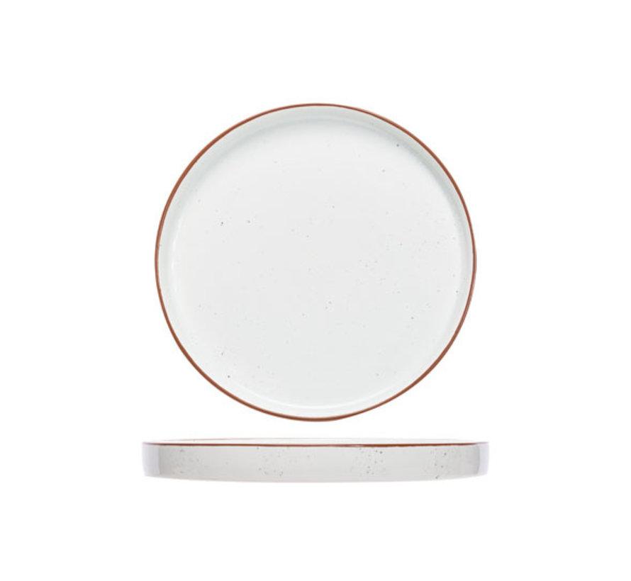 Cosy & Trendy Copenhague speckle plat bord rond 25cm, 1 stuk