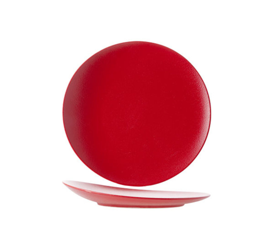 Cosy & Trendy Dazzle rode platte bord rond 27cm elevated, 1 stuk