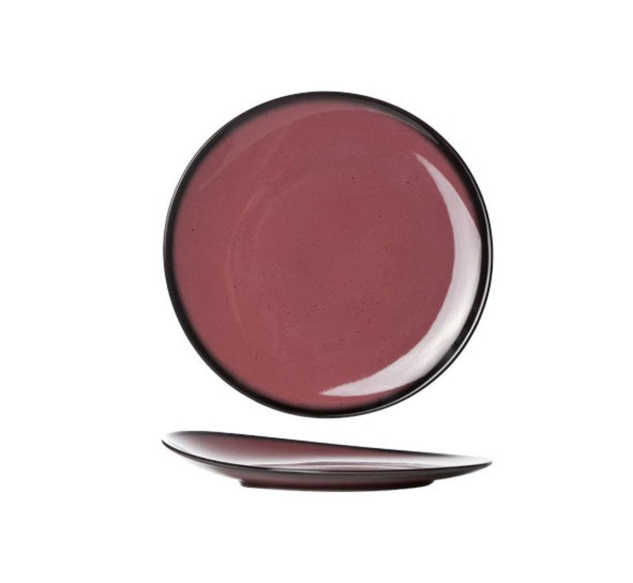 Cosy & Trendy Vigo indian rode plat bord rond 21cm, 1 stuk