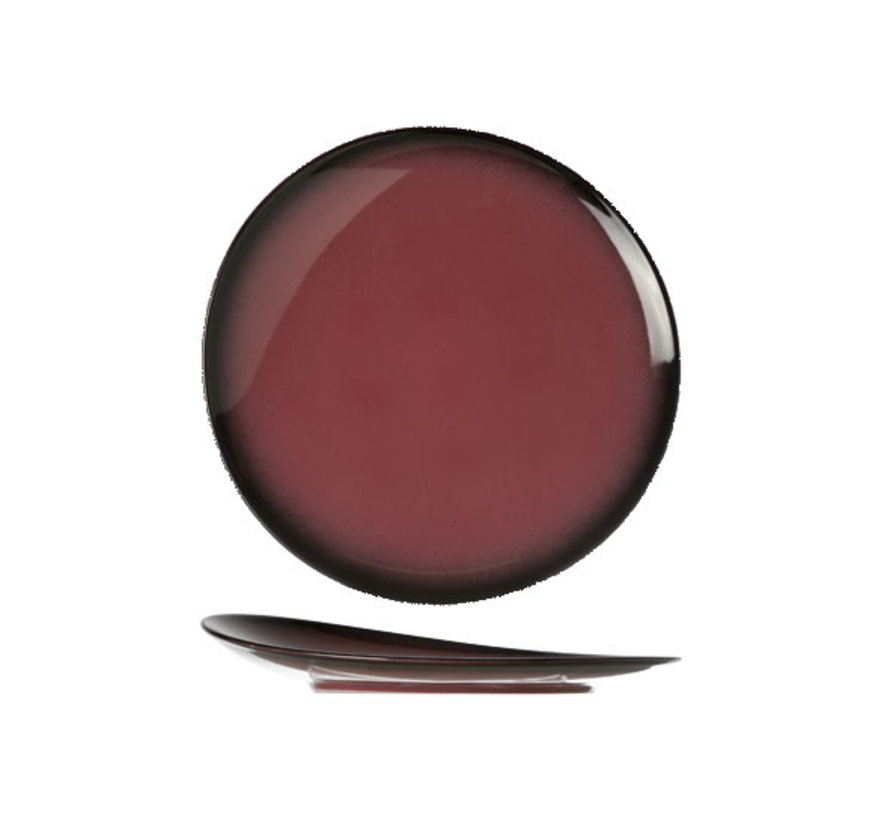 Cosy & Trendy Vigo indian rode plat bord rond 27cm, 1 stuk