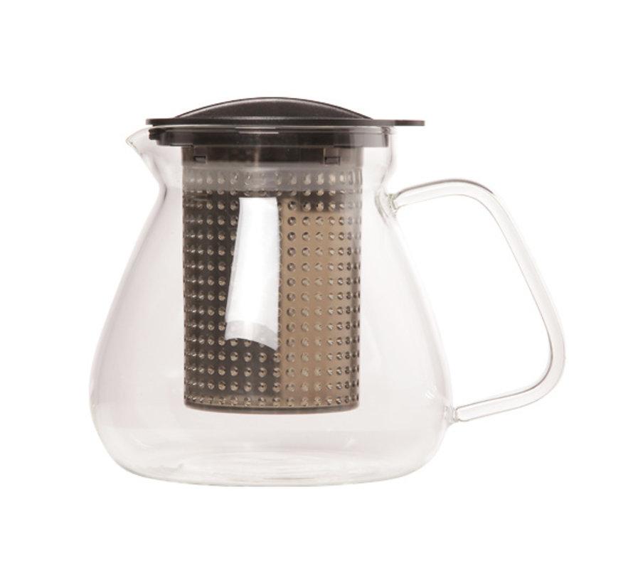 Tea control zwart 1L warmte resistent, 1 stuk