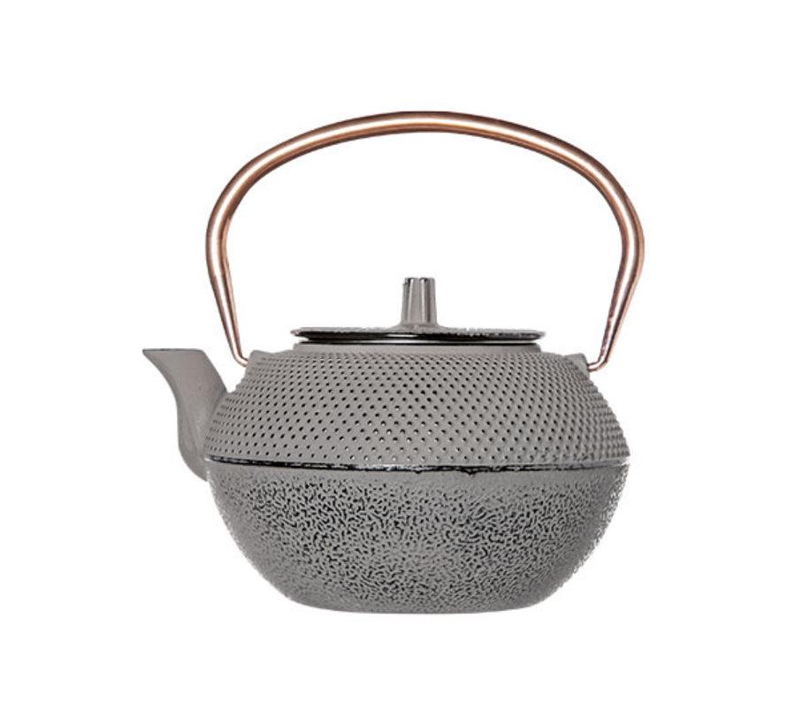 Cosy & Trendy Shinto grijs en koper theepot 1,2L, 1 stuk