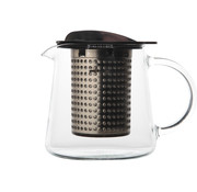 Overige merken Theekan en filter zwart 0,4L tea control, 1 stuk