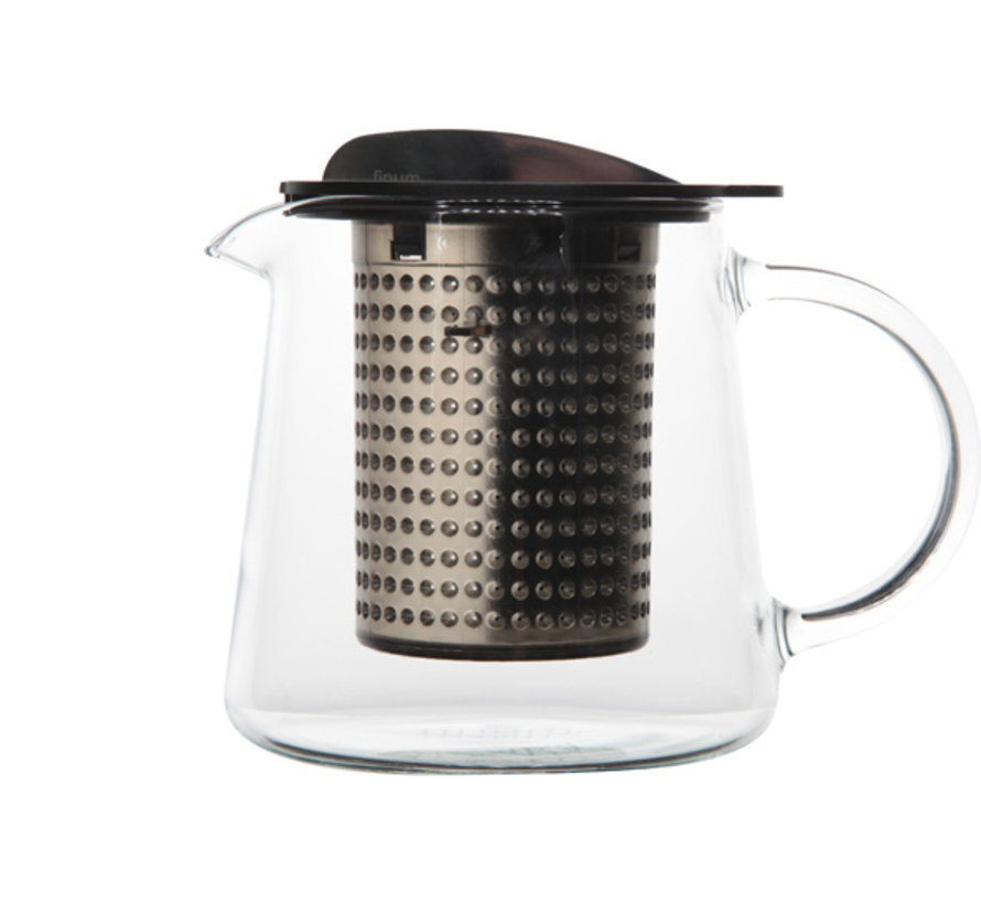 Theekan en filter zwart 0,4L tea control, 1 stuk