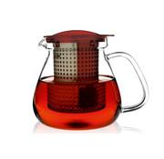Overige merken Theekan en filter rood 1,0L tea control, 1 stuk