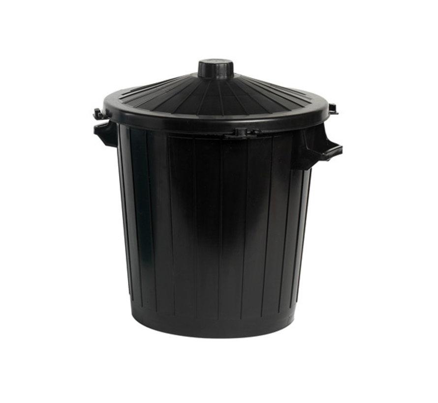 Cosy & Trendy Vuilbak met deksel zwart 50L, 1 stuk