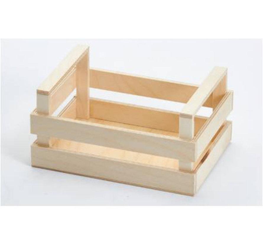 Bisetti Krat houten box s 20x14x10cm, 1 stuk