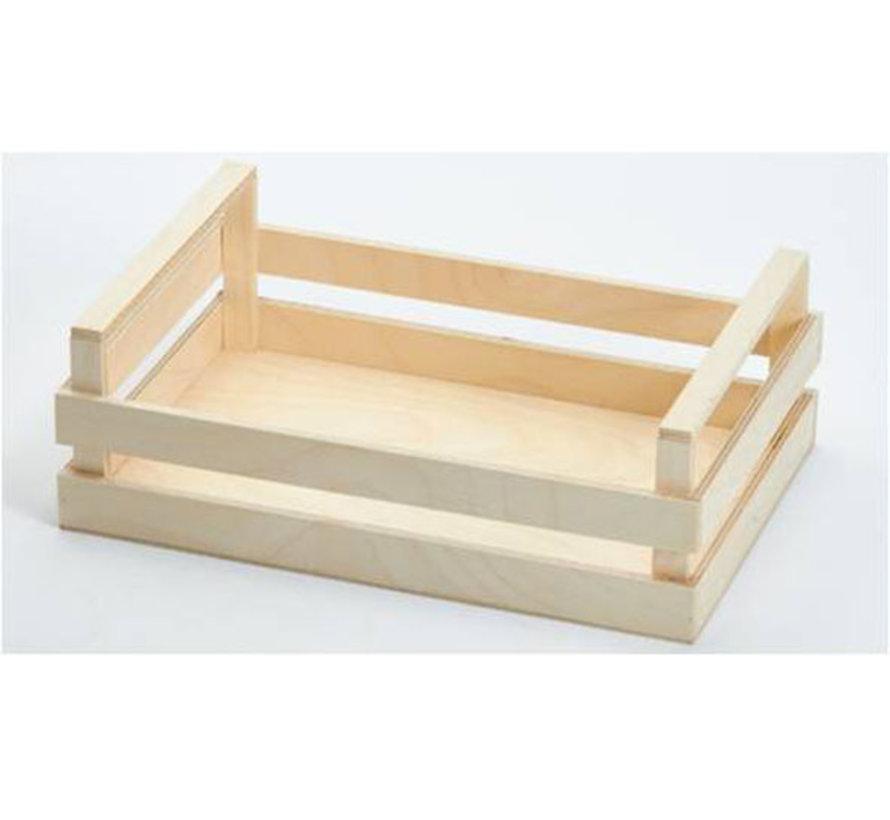 Bisetti Krat houten box l 30x20x10cm, 1 stuk