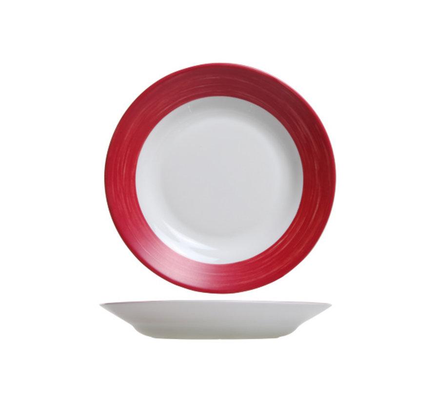 Arcoroc Brush diep bord cherry 22,5cm, 1 stuk
