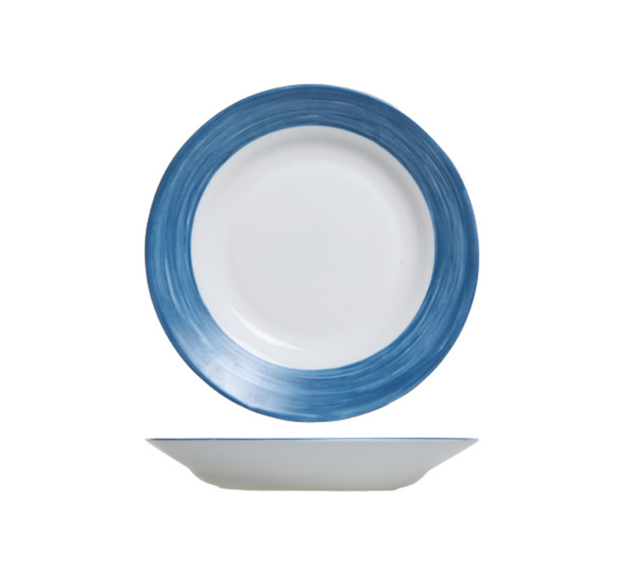 Arcoroc Brush diep bord jeansblauw, 1 stuk