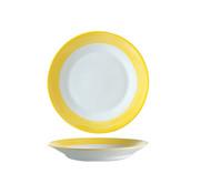 Arcoroc Arcoroc Brush diep bord geel 22,5cm, 1 stuk