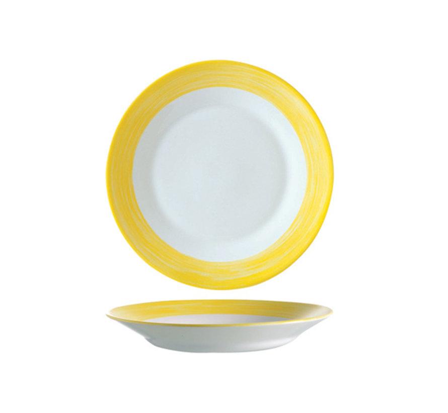 Arcoroc Brush diep bord geel 22,5cm, 1 stuk