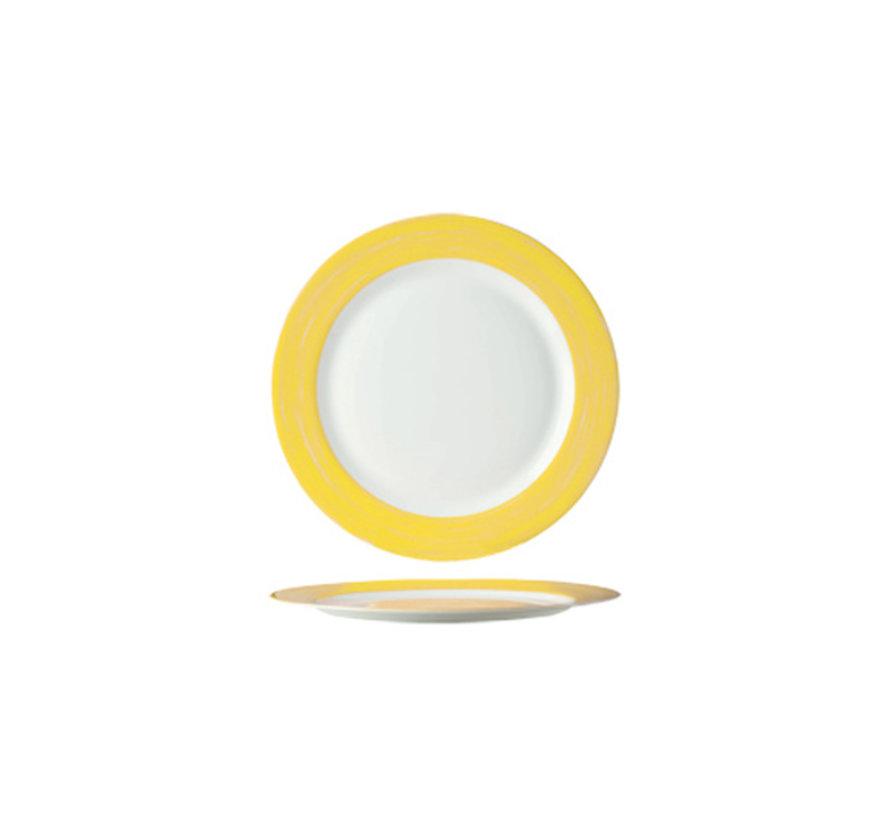 Arcoroc Brush geel dessertbord 19cm, 1 stuk