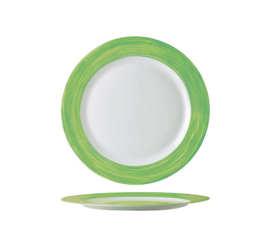 Arcoroc Brush dessertbord groen 19cm, 1 stuk