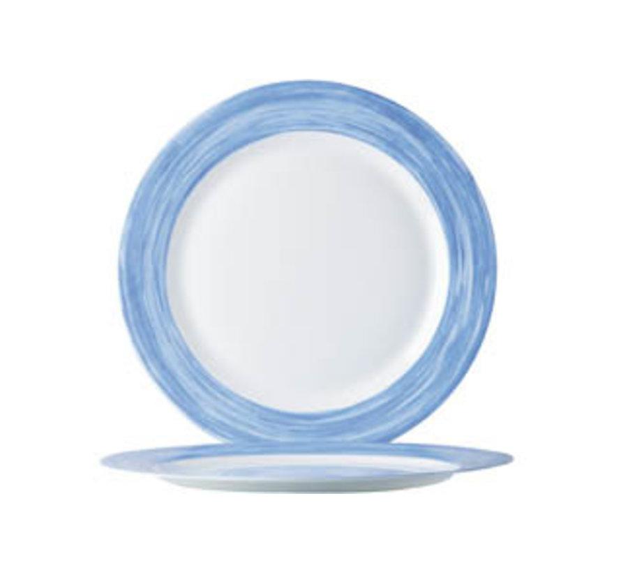 Arcoroc Brush dessertbord blauw 19cm, 1 stuk