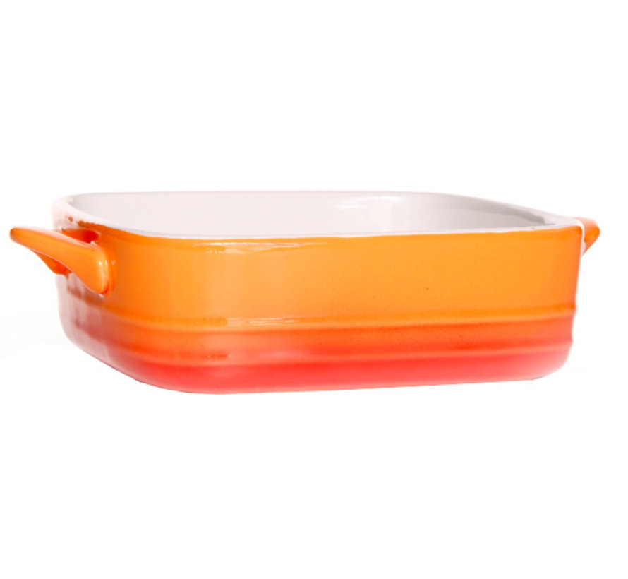 Cosy & Trendy Orange gratinschotel 70cl 16,5x16x5,5cm, 1 stuk