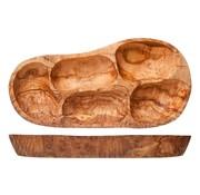Cosy & Trendy Cosy & Trendy Antipasti bord 3-6 secties olijfhout, 1 stuk