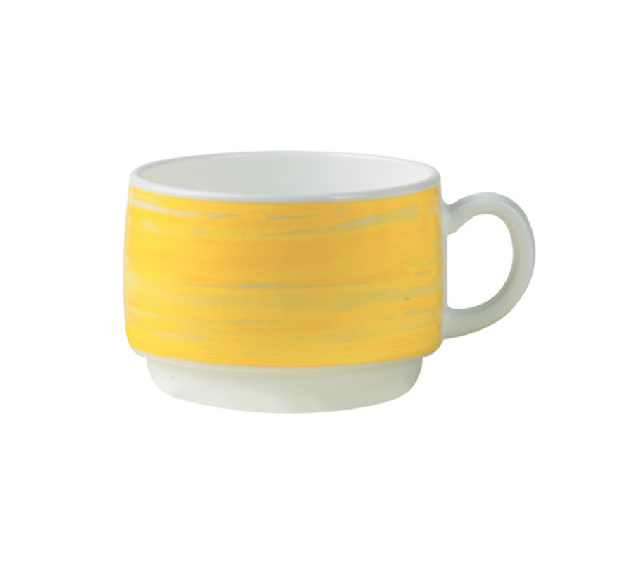 Arcoroc Brush kop geel 19cl, 1 stuk