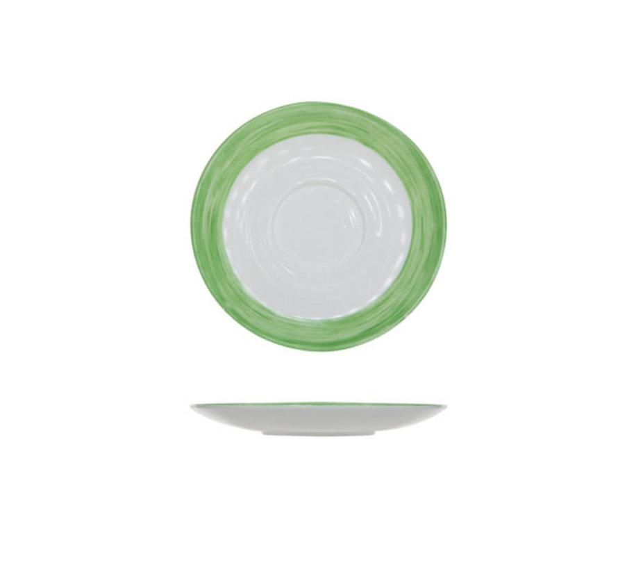 Arcoroc Brush groen schotel, 6 stuks