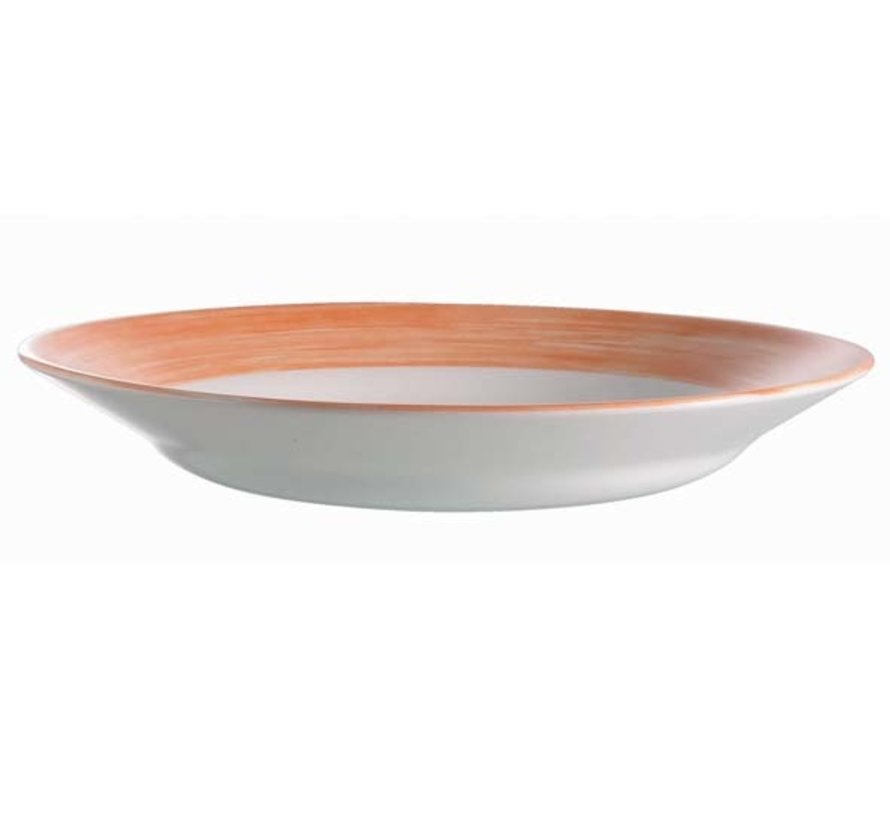 Arcoroc Brush oranje schotel, 6 stuks