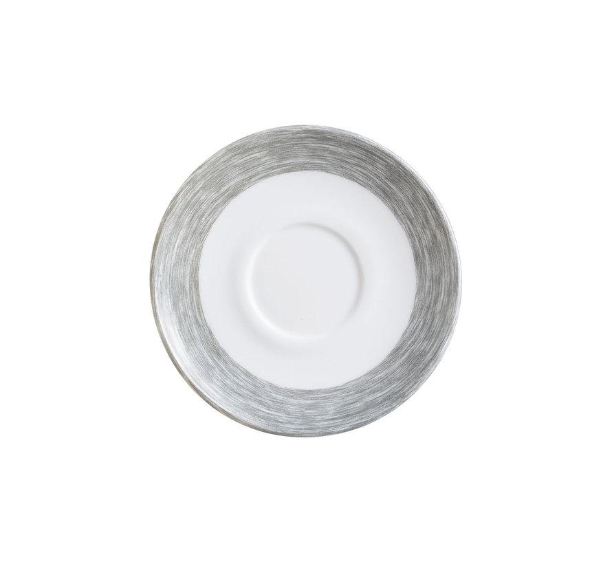 Arcoroc Brush grijs schotel, 6 stuks
