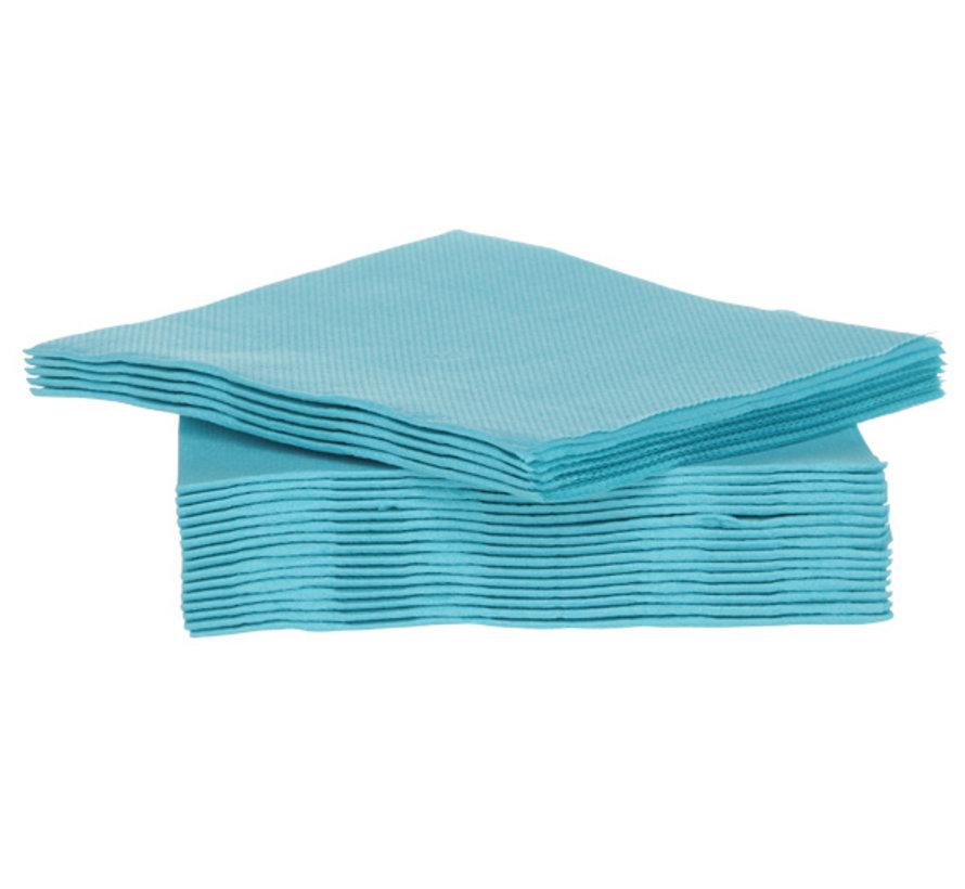 Cosy & Trendy Ct Prof Servet Tt S40 25X25Cm Turquoise, 40 stuks