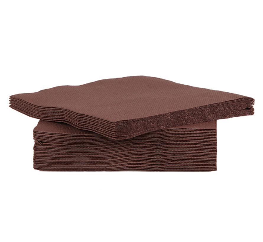Cosy & Trendy Ct Prof Servet Tt S40 25X25Cm Chocolat, 40 stuks