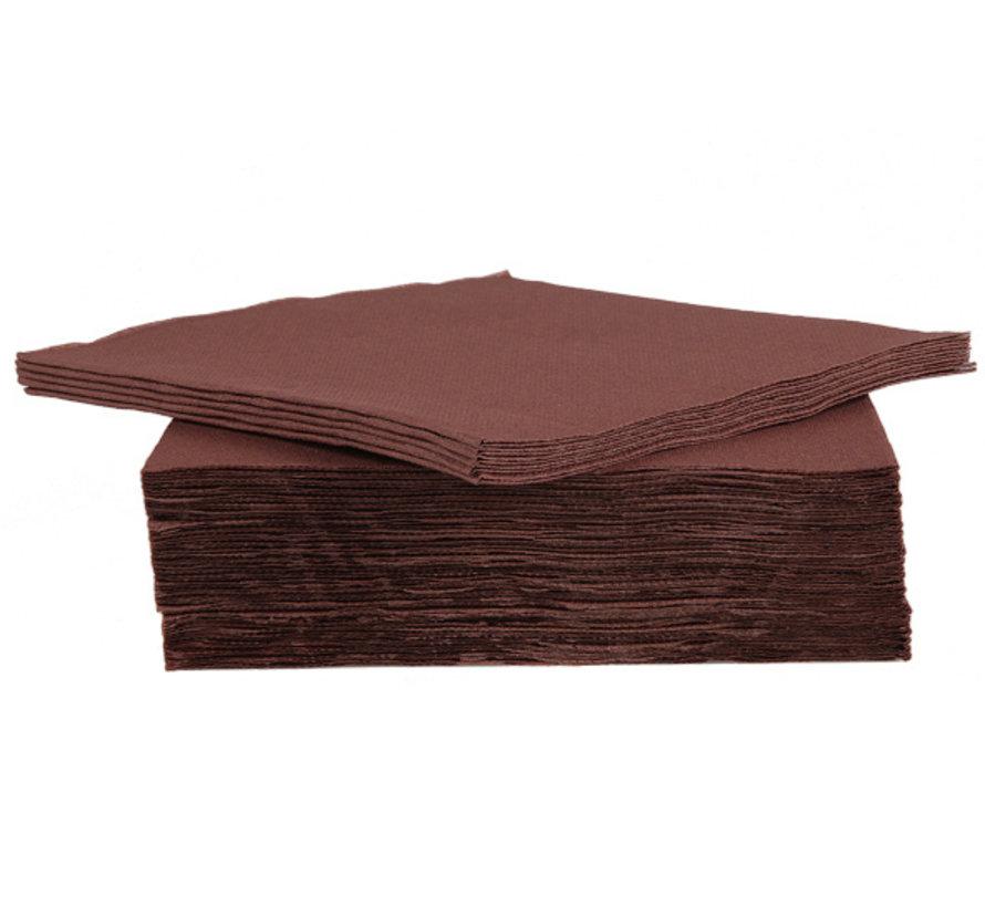 Cosy & Trendy Ct Prof Servet Tt S40 38X38Cm Chocolat, 40 stuks
