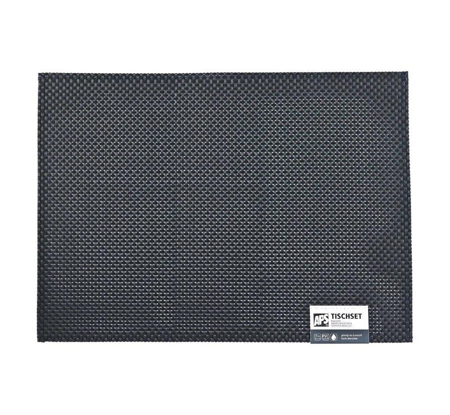 Aps Placemat 45 x 33 cm, zwart, 1 stuk