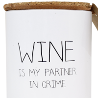 My Flame Lifestyle SOJAKAARS - WINE IS MY PARTNER IN CRIME - GEUR: FRESH COTTON