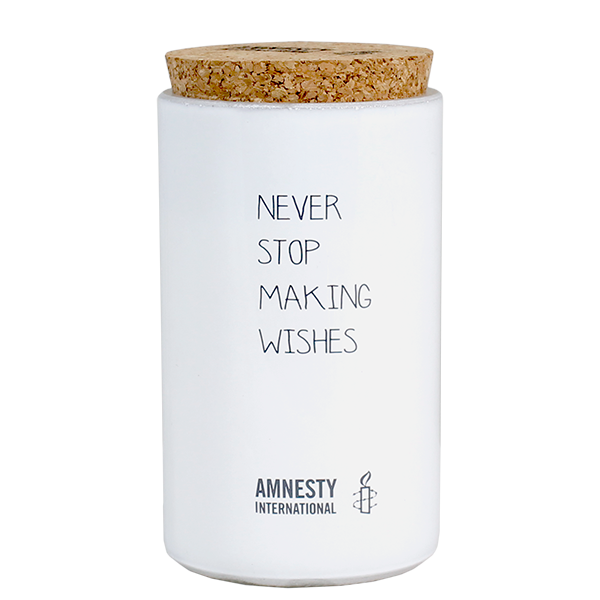 My Flame Lifestyle SOY CANDLE - NEVER STOP MAKING WISHES - SCENT: FRESH COTTON