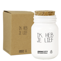 My Flame Lifestyle SOJAKAARS - IK HEB JE LIEF - GEUR: FRESH COTTON