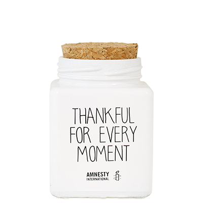 My Flame Lifestyle SOY CANDLE - THANKFUL FOR EVERY MOMENT - SCENT: FRESH COTTON