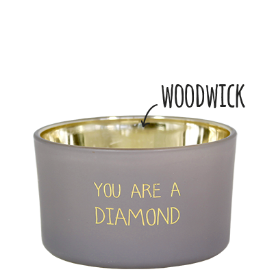 My Flame Lifestyle SOY CANDLE - YOU ARE A DIAMOND - SCENT: AMBER'S SECRET