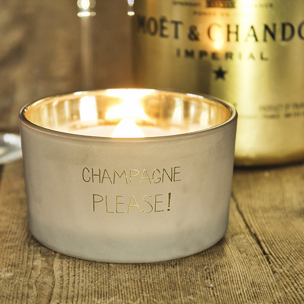 My Flame Lifestyle SOY CANDLE - CHAMPAGNE PLEASE - SCENT: FIG'S DELIGHT