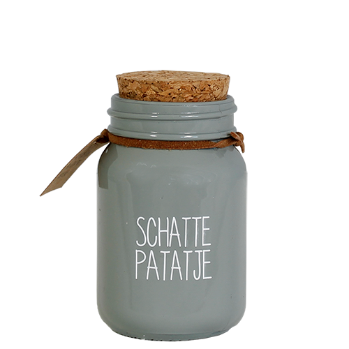 My Flame Lifestyle SOJAKAARS - SCHATTEPATATJE - GEUR: MINTY BAMBOO