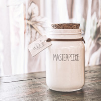 My Flame Lifestyle SOY CANDLE - MASTERPIECE - SCENT: FRESH COTTON