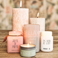 My Flame Lifestyle SOY CANDLE - JOEPIE DE POEPIE - SCENT: GREEN TEA TIME