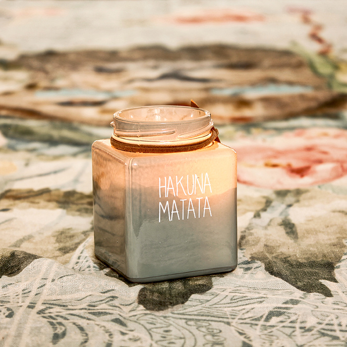 My Flame Lifestyle SOY CANDLE - HAKUNA MATATA - SCENT: MINTY BAMBOO