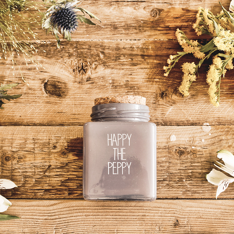 My Flame Lifestyle SOY CANDLE - HAPPY THE PEPPY - SCENT: AMBER'S SECRET